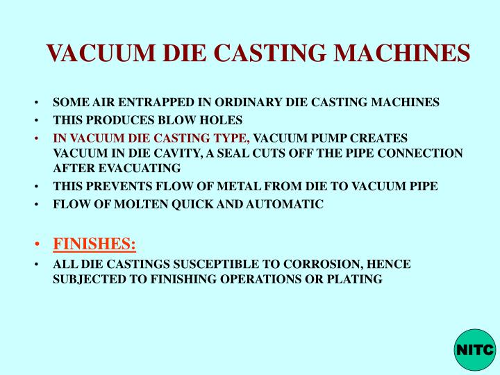 Types of die casting ppt to pdf