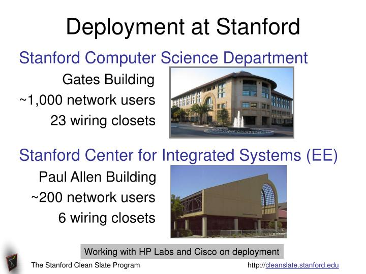 Deployment at Stanford