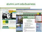 alumni uvm edu business