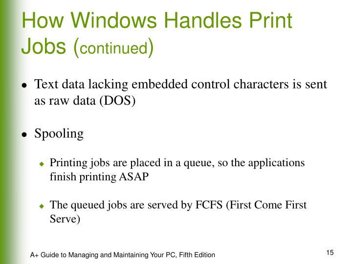 How Windows Handles Print Jobs (