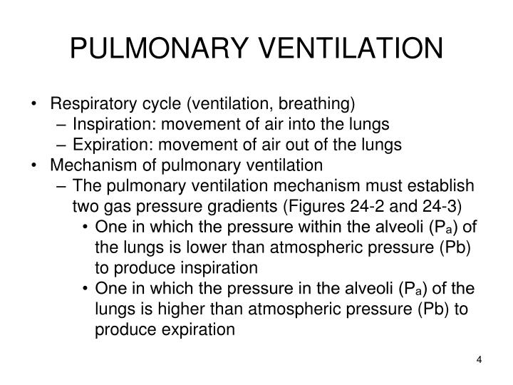 regulation of pulmonary ventilation Regulation and control of breathing: 3 ventilation 4 lung  volumes and pulmonary function tests 5 diffusion 6  perfusion.