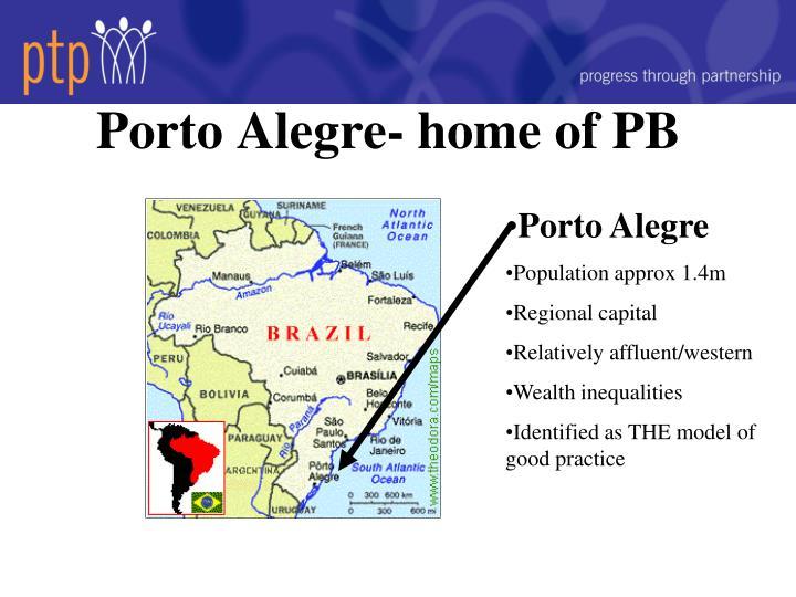 Porto Alegre- home of PB