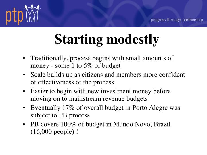 Starting modestly