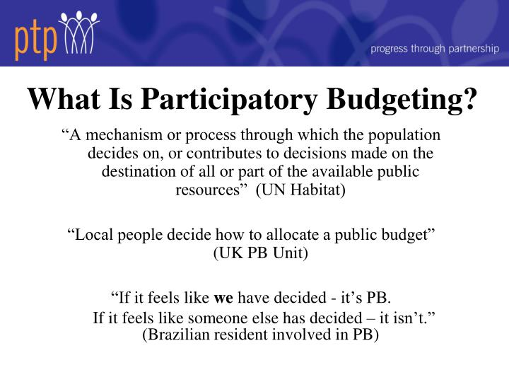 What is participatory budgeting