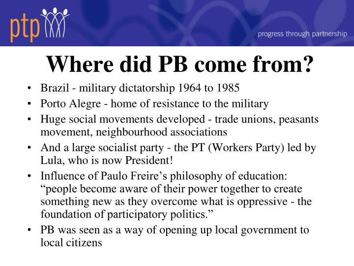 Where did pb come from