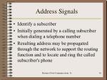 address signals