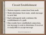 circuit establishment