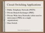 circuit switching applications