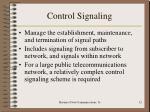 control signaling