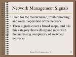network management signals