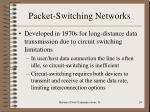 packet switching networks
