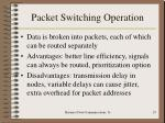 packet switching operation