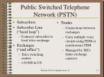 public switched telephone network pstn