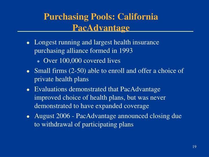Purchasing Pools: California PacAdvantage