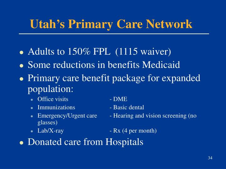 Utah's Primary Care Network