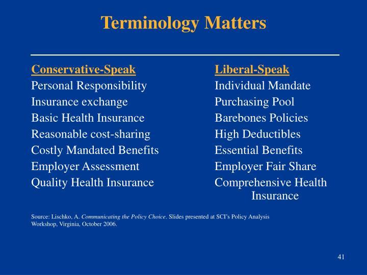 Terminology Matters