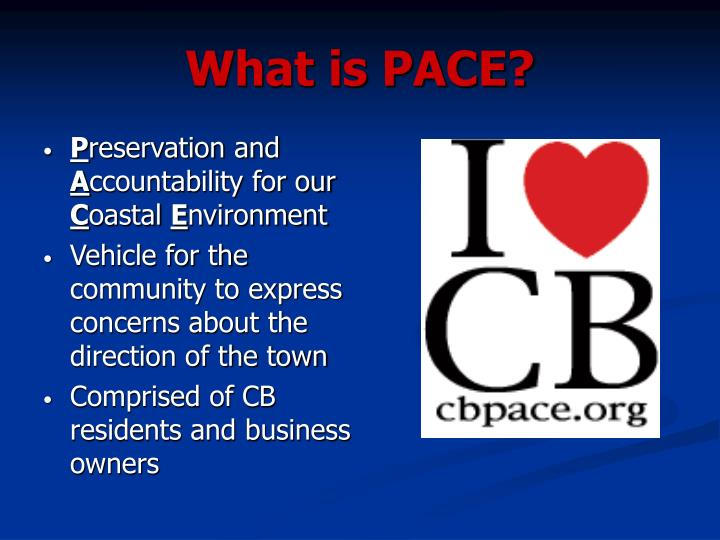 What is pace