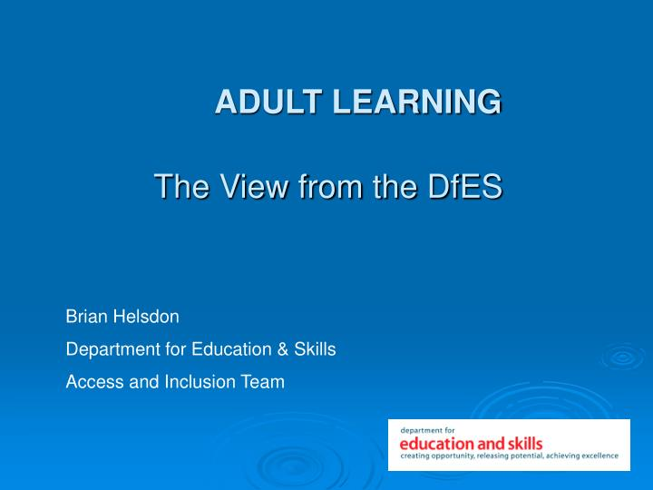 adult learning n.