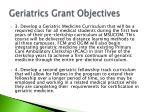 geriatrics grant objectives1