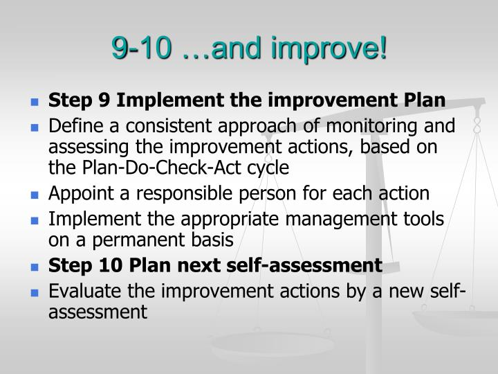 9-10 …and improve!
