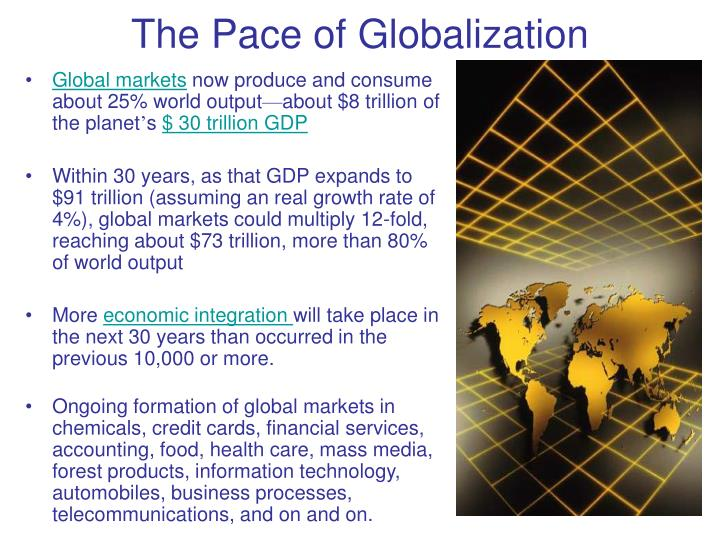 the pace of globalization n.