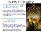 the pace of globalization
