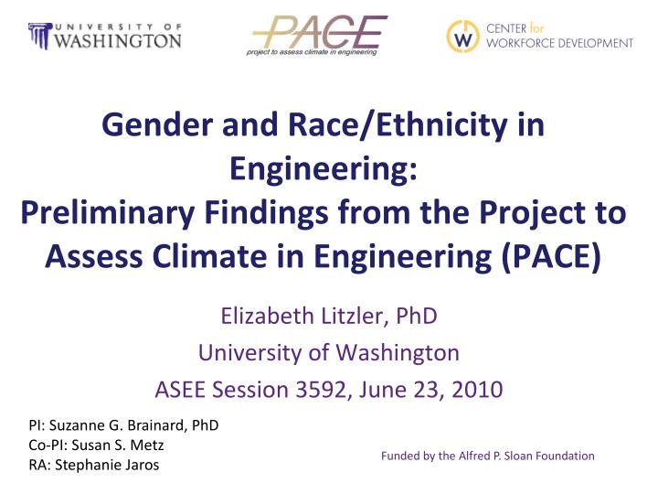 Gender and Race/Ethnicity in Engineering: