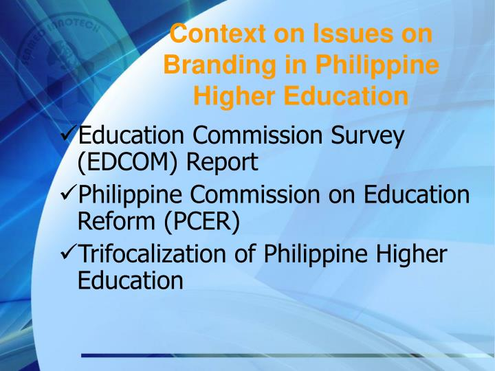 trifocalization of philippine education