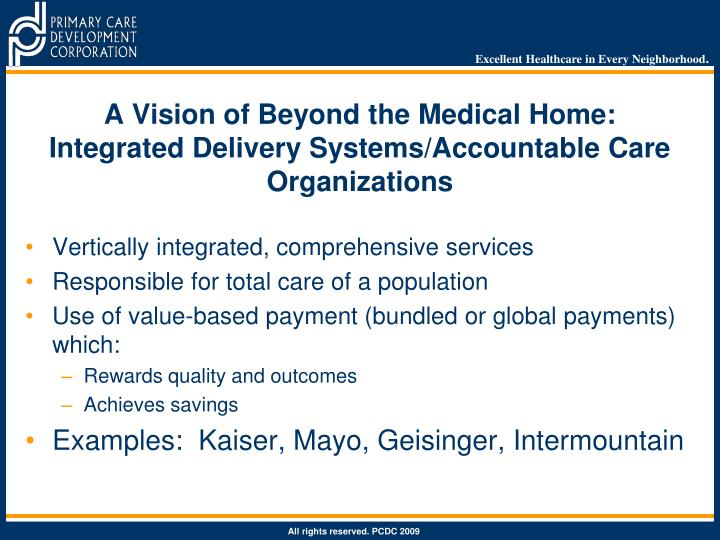 A Vision of Beyond the Medical Home: