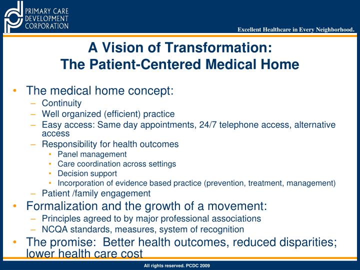 A Vision of Transformation: