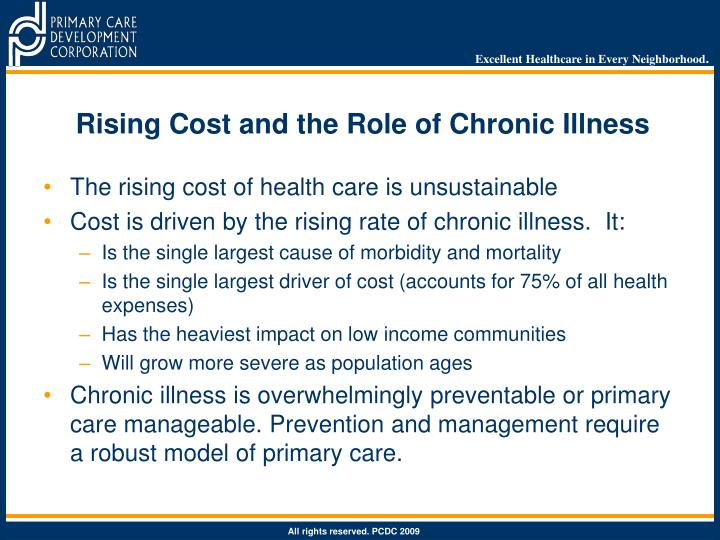 Rising Cost and the Role of Chronic Illness