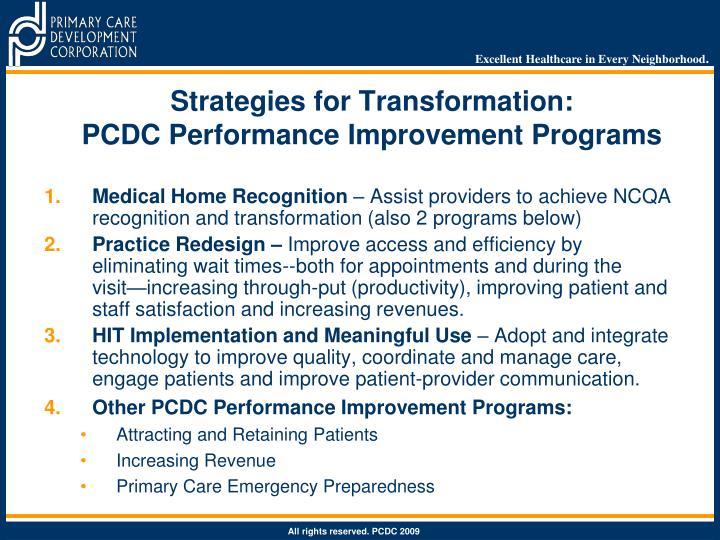 Strategies for Transformation: