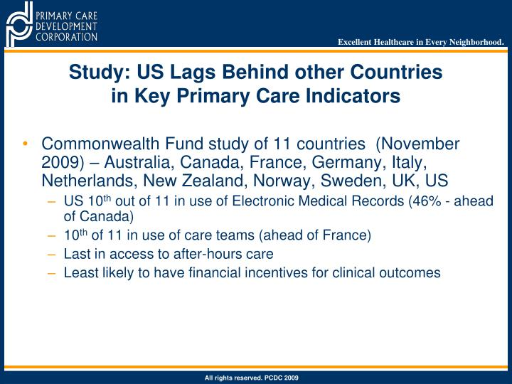 Study: US Lags Behind other Countries