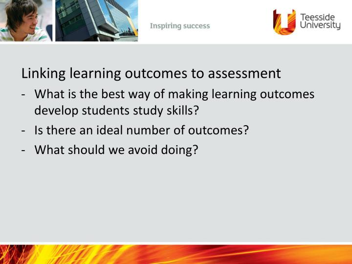 Linking learning outcomes to assessment