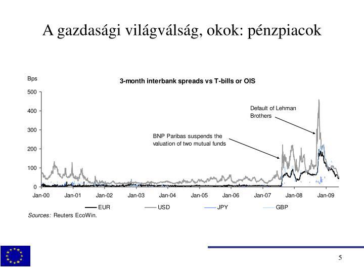 A gazdasági világválság, okok: pénzpiacok