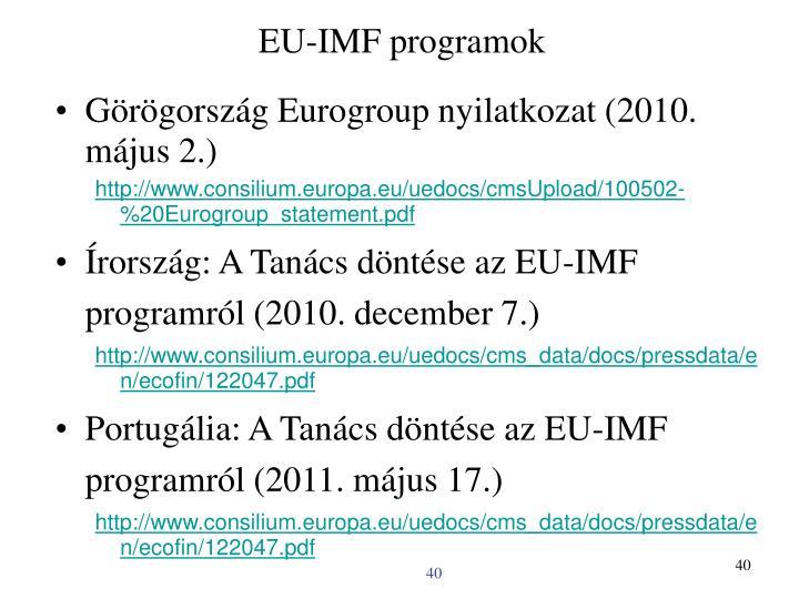 EU-IMF programok