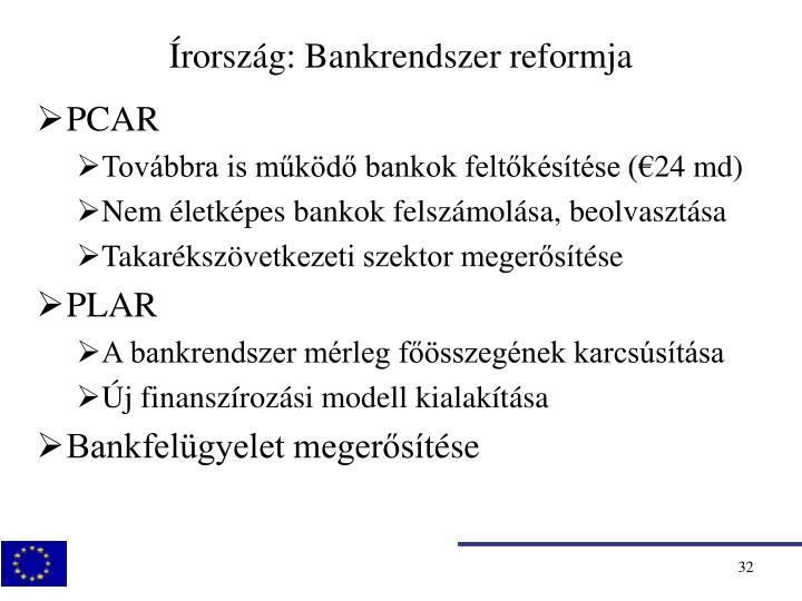 Írország: Bankrendszer reformja