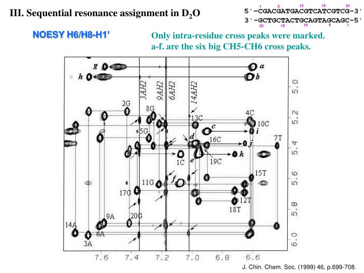III. Sequential resonance assignment in D