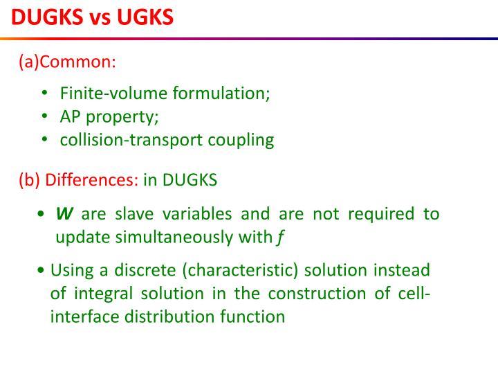 DUGKS vs UGKS
