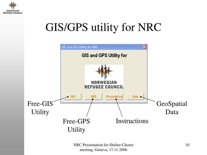 GIS/GPS utility for NRC
