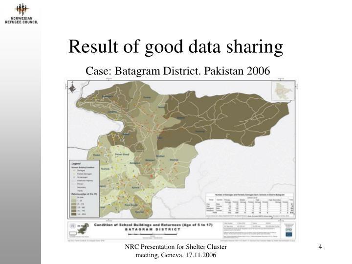 Result of good data sharing