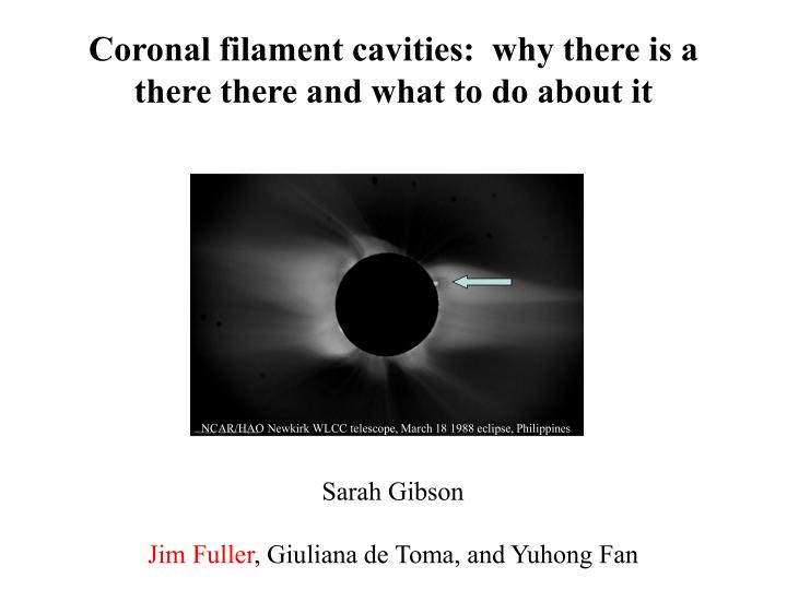 coronal filament cavities why there is a there there and what to do about it