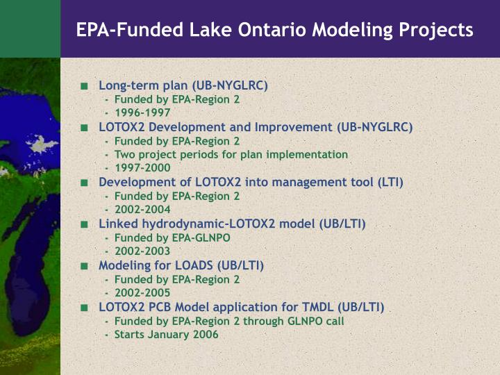 EPA-Funded Lake Ontario Modeling Projects