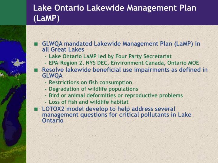 Lake ontario lakewide management plan lamp
