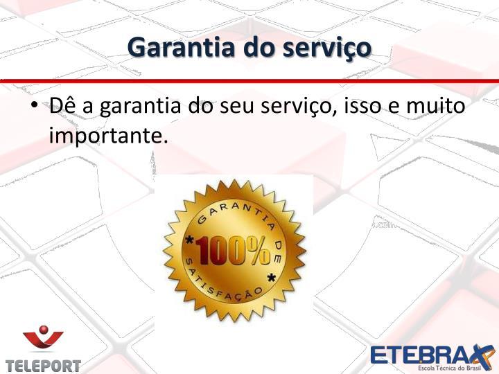 Garantia do serviço