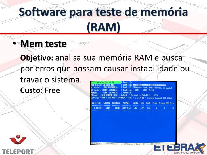 Software para teste de memória (RAM)