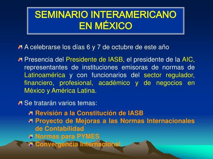 SEMINARIO INTERAMERICANO EN MÉXICO