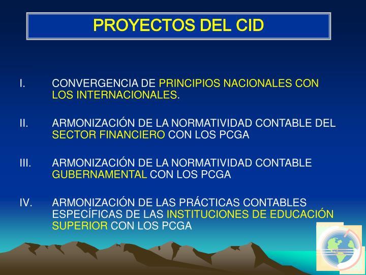 PROYECTOS DEL CID
