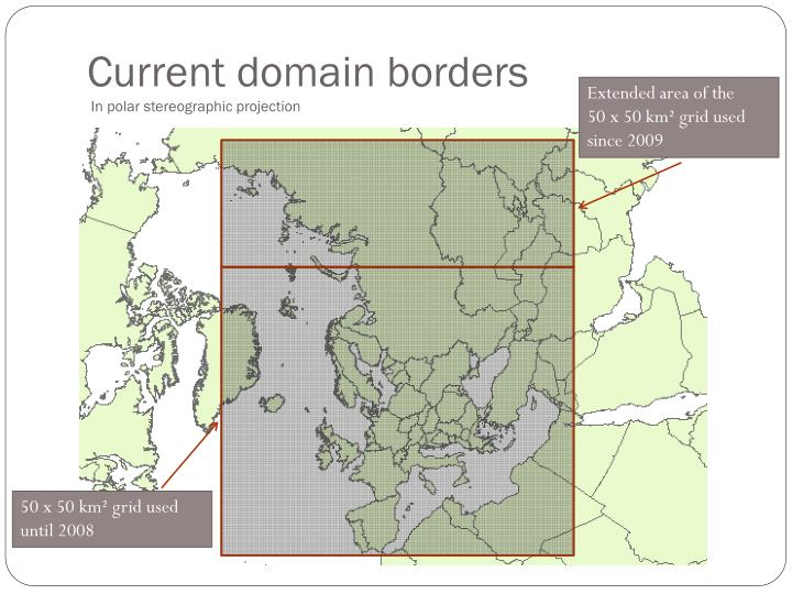 Current domain borders