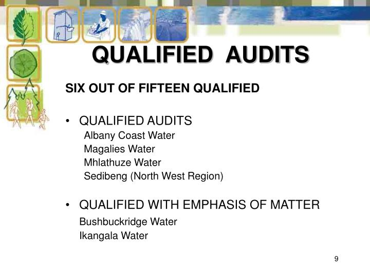 QUALIFIED  AUDITS